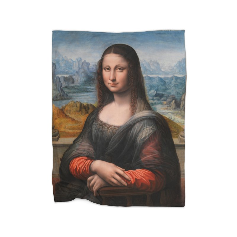 MONA LISA Home Blanket by THE ORANGE ZEROMAX STREET COUTURE