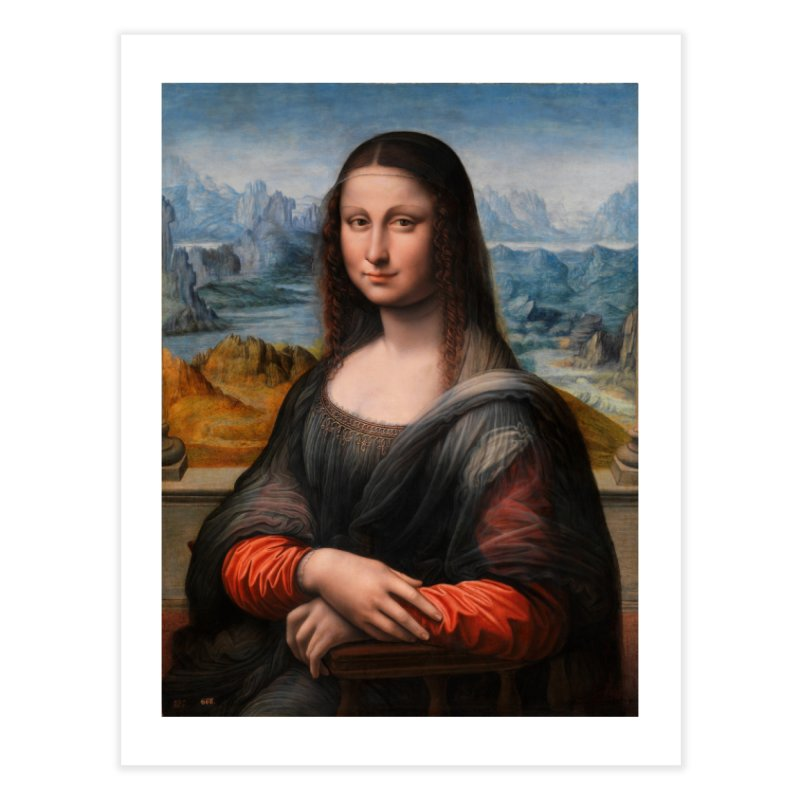 MONA LISA Home Fine Art Print by THE ORANGE ZEROMAX STREET COUTURE