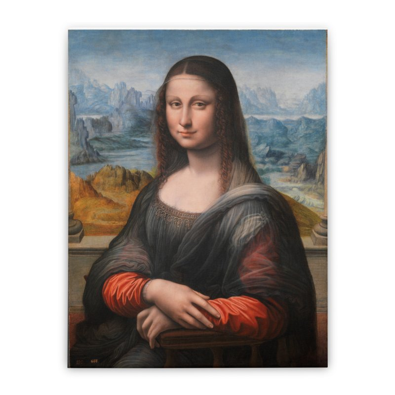 MONA LISA Home Stretched Canvas by THE ORANGE ZEROMAX STREET COUTURE