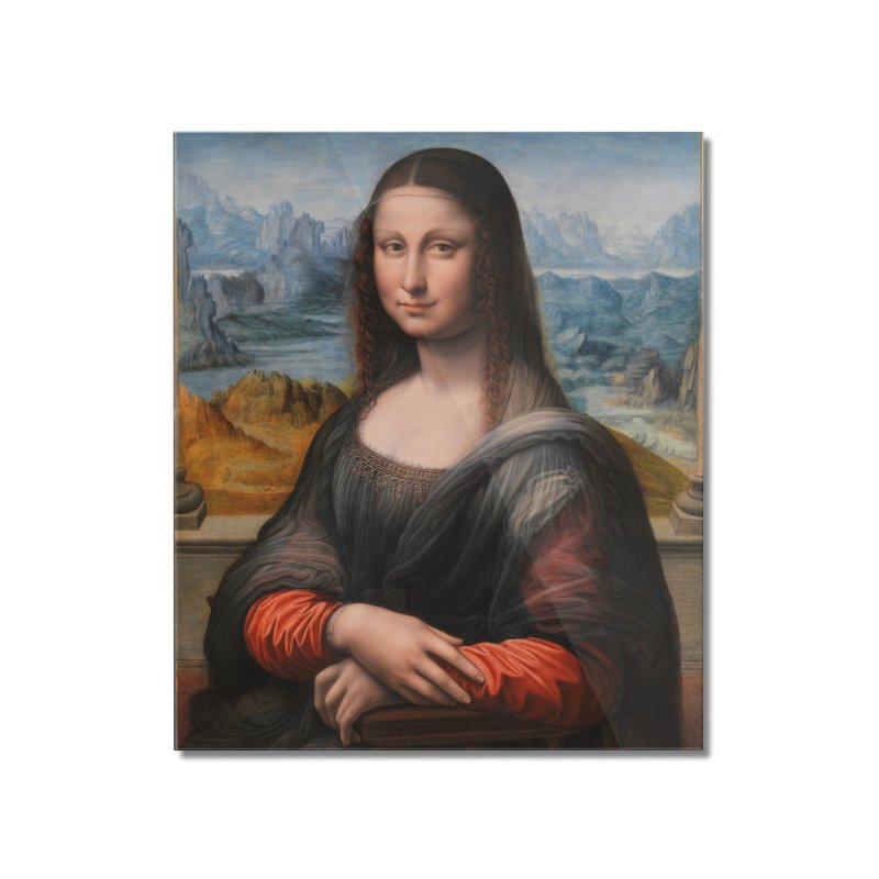 MONA LISA Home Mounted Acrylic Print by THE ORANGE ZEROMAX STREET COUTURE