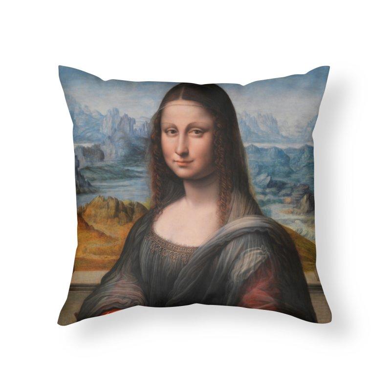 MONA LISA Home Throw Pillow by THE ORANGE ZEROMAX STREET COUTURE
