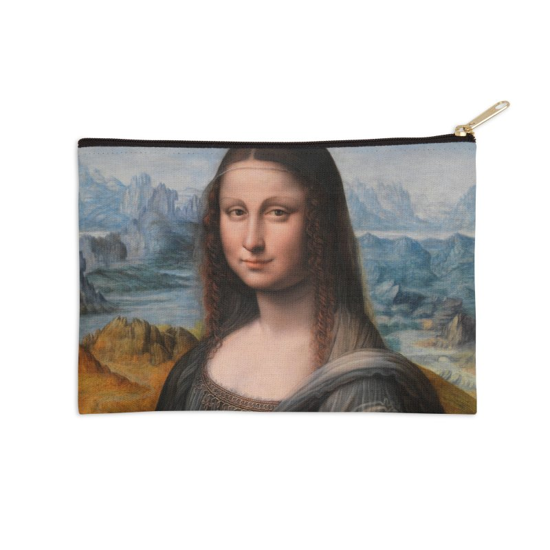 MONA LISA Accessories Zip Pouch by THE ORANGE ZEROMAX STREET COUTURE