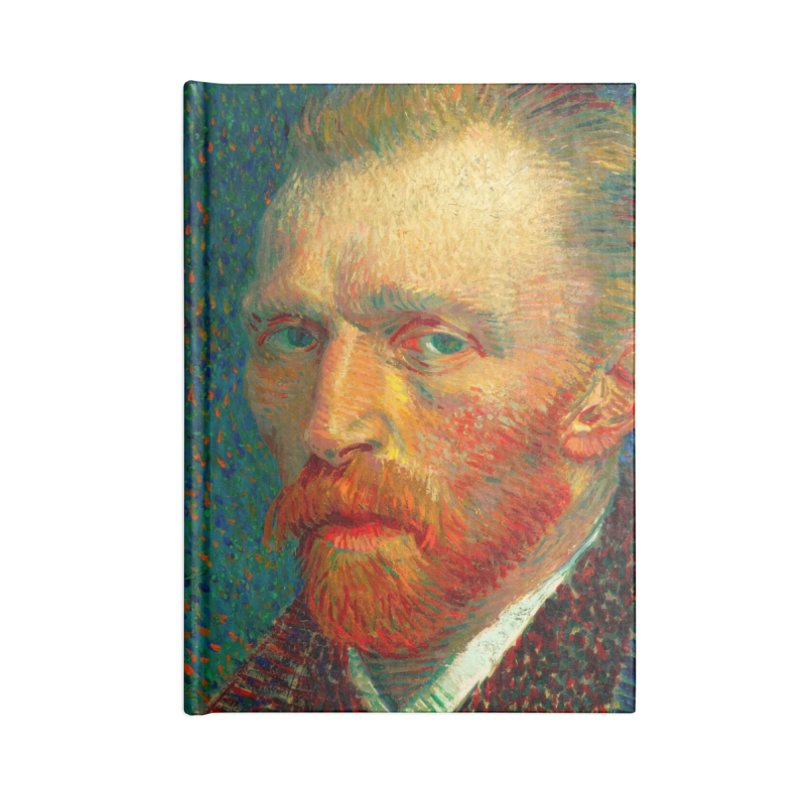 VINCENT VAN GOGH-SELF PORTRAIT Accessories Notebook by THE ORANGE ZEROMAX STREET COUTURE