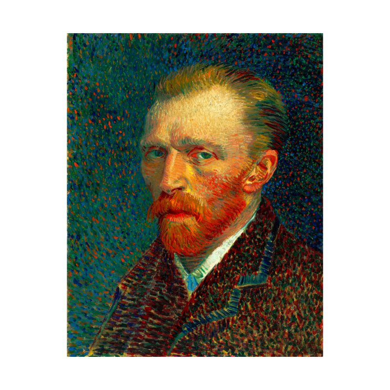 VINCENT VAN GOGH-SELF PORTRAIT Home Mounted Aluminum Print by THE ORANGE ZEROMAX STREET COUTURE