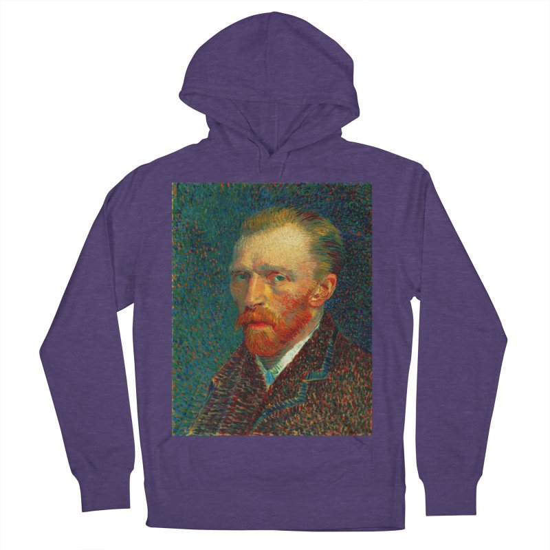 VINCENT VAN GOGH-SELF PORTRAIT Women's French Terry Pullover Hoody by THE ORANGE ZEROMAX STREET COUTURE
