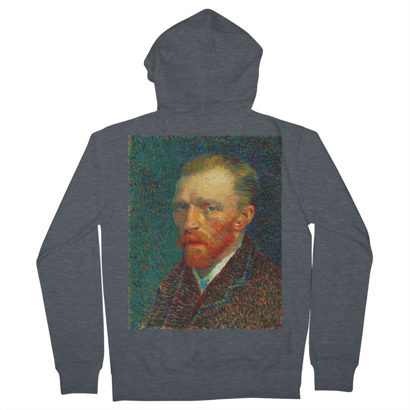 VINCENT VAN GOGH-SELF PORTRAIT Women's French Terry Zip-Up Hoody by THE ORANGE ZEROMAX STREET COUTURE