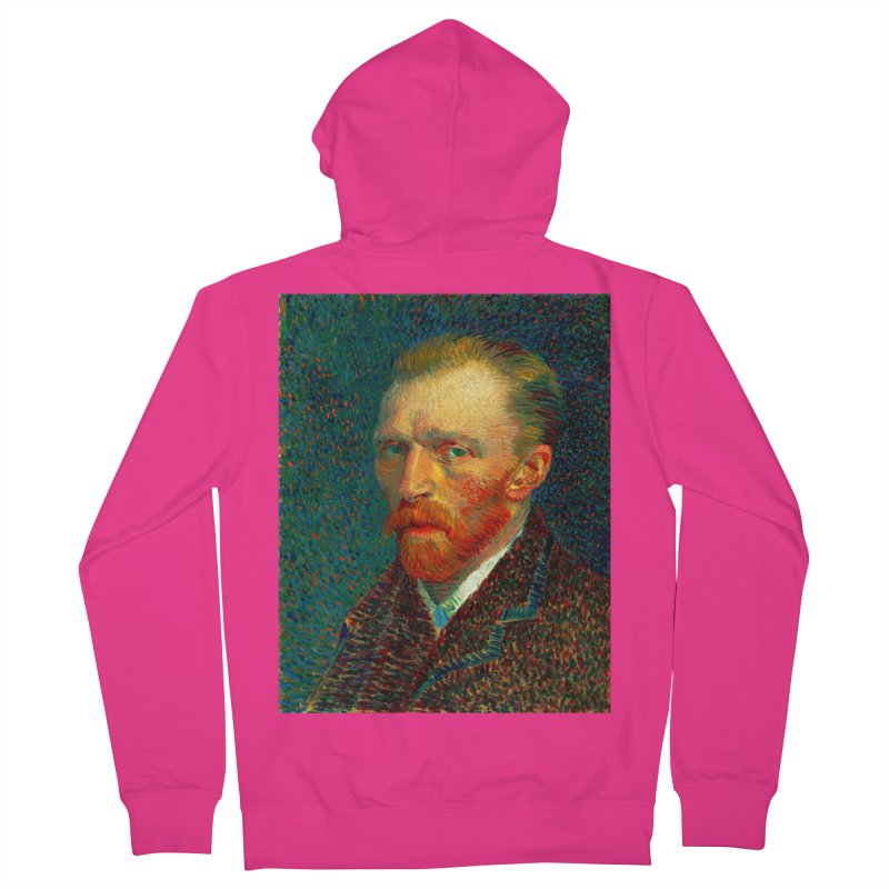 VINCENT VAN GOGH-SELF PORTRAIT Men's French Terry Zip-Up Hoody by THE ORANGE ZEROMAX STREET COUTURE