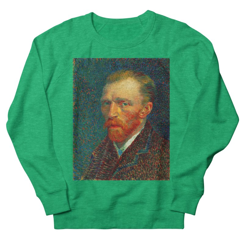 VINCENT VAN GOGH-SELF PORTRAIT Men's French Terry Sweatshirt by THE ORANGE ZEROMAX STREET COUTURE