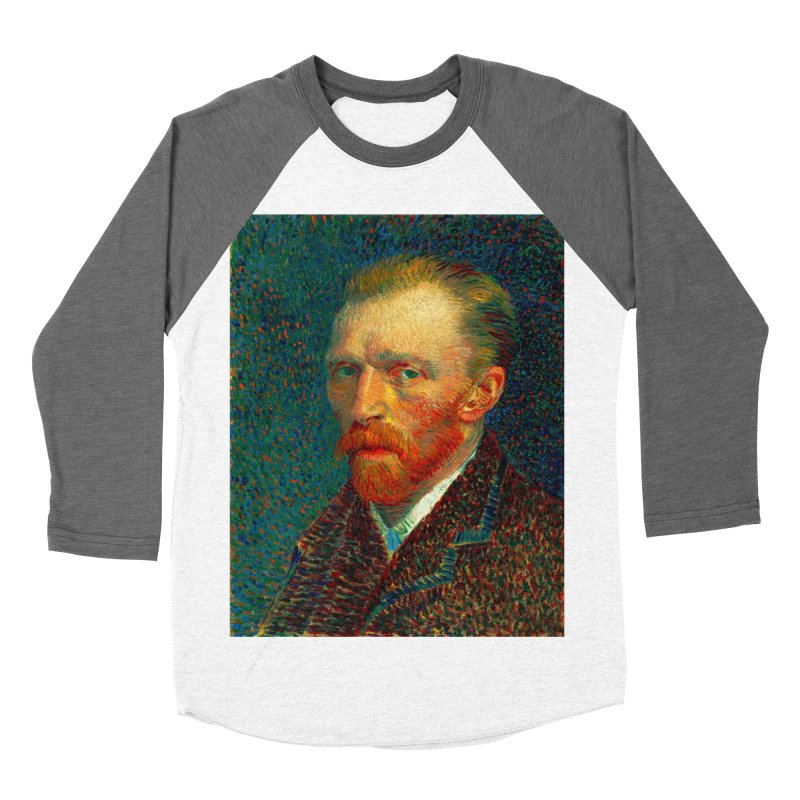 VINCENT VAN GOGH-SELF PORTRAIT Women's Baseball Triblend T-Shirt by THE ORANGE ZEROMAX STREET COUTURE