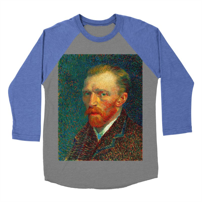 VINCENT VAN GOGH-SELF PORTRAIT Men's Baseball Triblend Longsleeve T-Shirt by THE ORANGE ZEROMAX STREET COUTURE