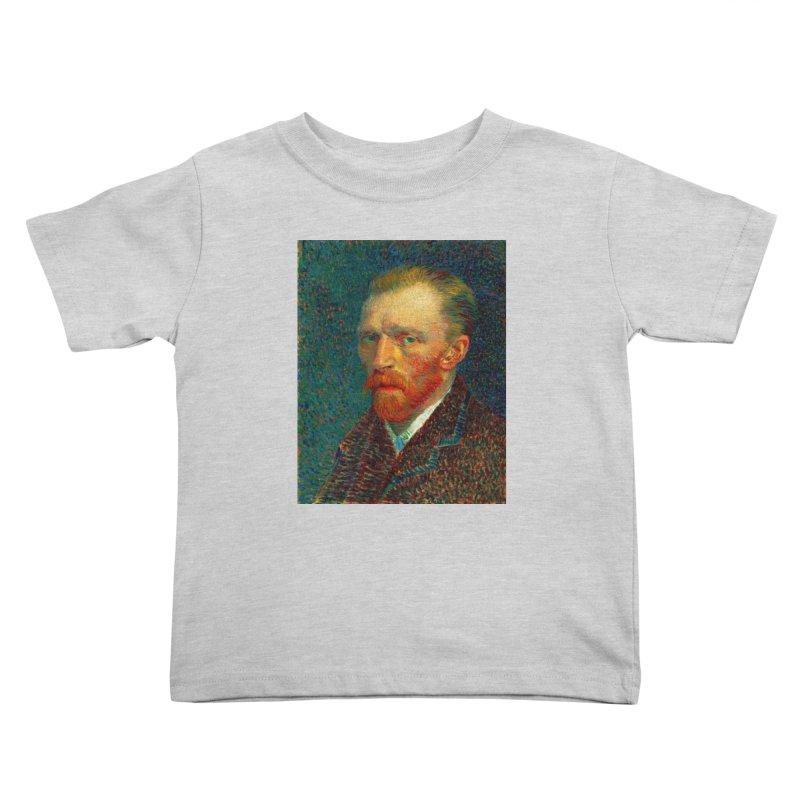 VINCENT VAN GOGH-SELF PORTRAIT Kids Toddler T-Shirt by THE ORANGE ZEROMAX STREET COUTURE