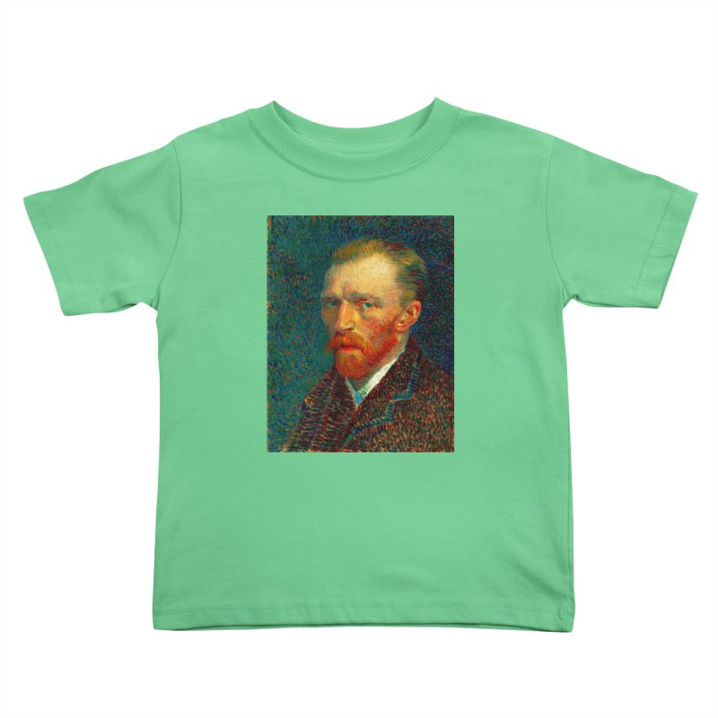 VINCENT VAN GOGH-SELF PORTRAIT Kids Toddler T-Shirt by THE ORANGE ZEROMAX STREET COUTURE