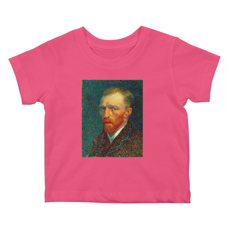 VINCENT VAN GOGH-SELF PORTRAIT Kids Baby T-Shirt by THE ORANGE ZEROMAX STREET COUTURE