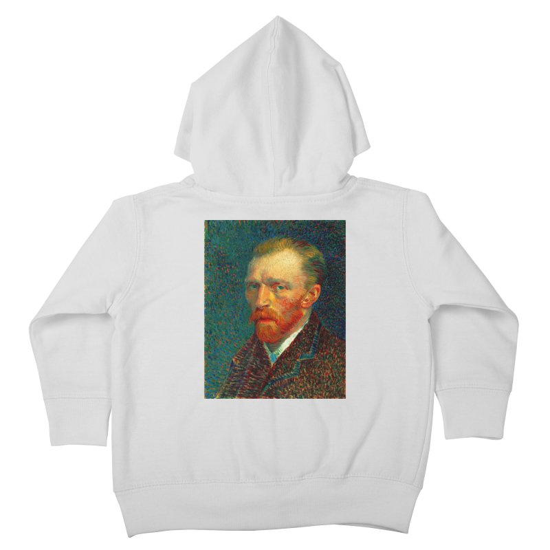 VINCENT VAN GOGH-SELF PORTRAIT Kids Toddler Zip-Up Hoody by THE ORANGE ZEROMAX STREET COUTURE