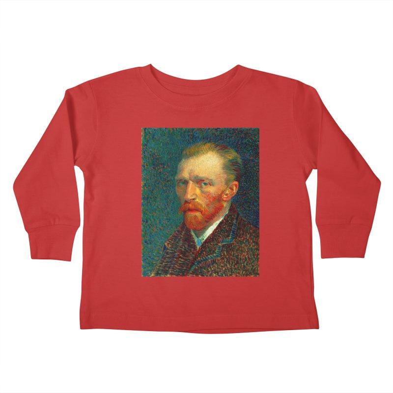 VINCENT VAN GOGH-SELF PORTRAIT Kids Toddler Longsleeve T-Shirt by THE ORANGE ZEROMAX STREET COUTURE