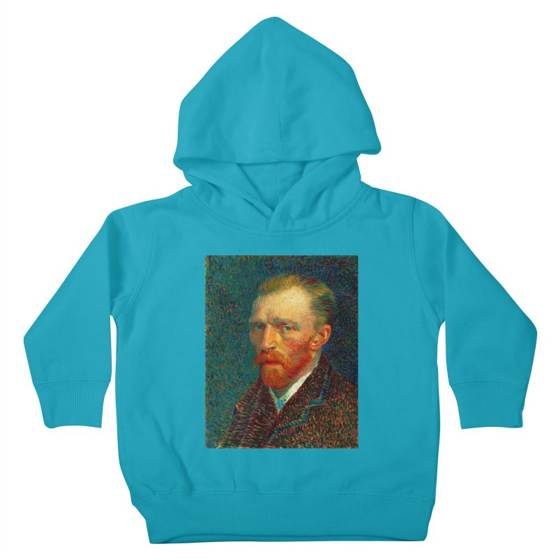 VINCENT VAN GOGH-SELF PORTRAIT Kids Toddler Pullover Hoody by THE ORANGE ZEROMAX STREET COUTURE