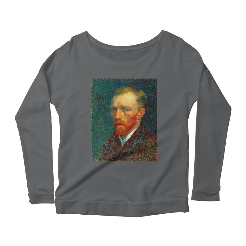 VINCENT VAN GOGH-SELF PORTRAIT Women's Scoop Neck Longsleeve T-Shirt by THE ORANGE ZEROMAX STREET COUTURE