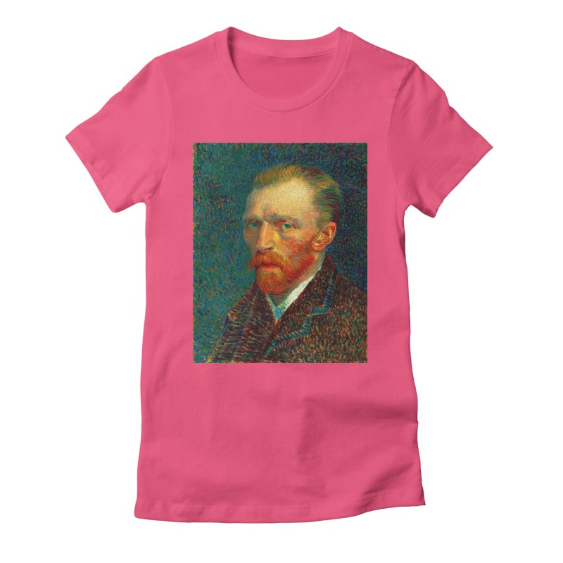 VINCENT VAN GOGH-SELF PORTRAIT Women's Fitted T-Shirt by THE ORANGE ZEROMAX STREET COUTURE