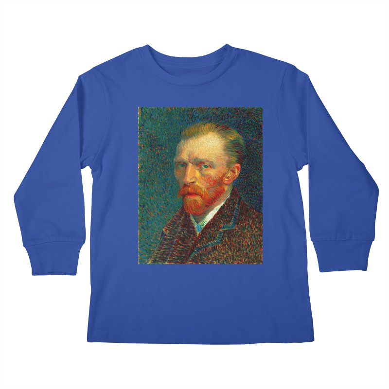 VINCENT VAN GOGH-SELF PORTRAIT Kids Longsleeve T-Shirt by THE ORANGE ZEROMAX STREET COUTURE