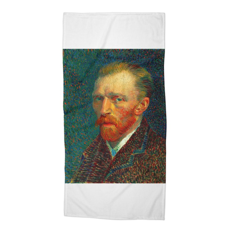 VINCENT VAN GOGH-SELF PORTRAIT Accessories Beach Towel by THE ORANGE ZEROMAX STREET COUTURE