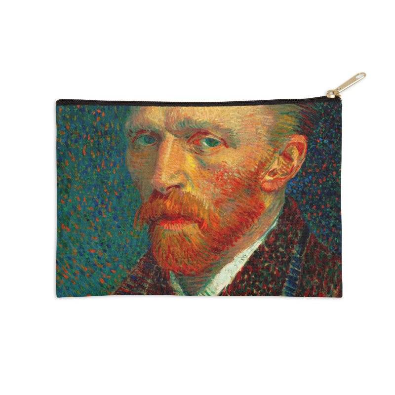 VINCENT VAN GOGH-SELF PORTRAIT Accessories Zip Pouch by THE ORANGE ZEROMAX STREET COUTURE
