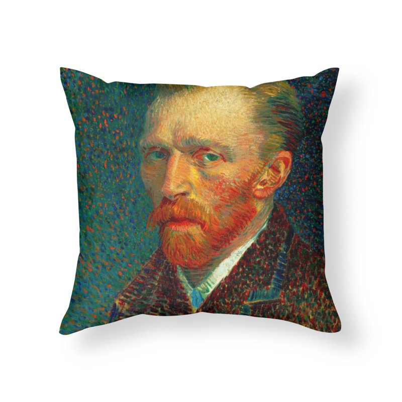 VINCENT VAN GOGH-SELF PORTRAIT Home Throw Pillow by THE ORANGE ZEROMAX STREET COUTURE