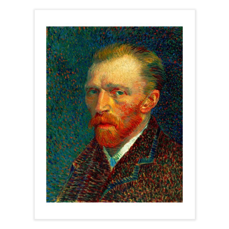 VINCENT VAN GOGH-SELF PORTRAIT Home Fine Art Print by THE ORANGE ZEROMAX STREET COUTURE