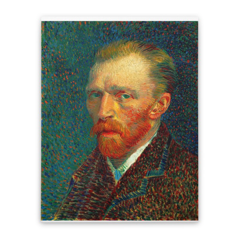 VINCENT VAN GOGH-SELF PORTRAIT Home Stretched Canvas by THE ORANGE ZEROMAX STREET COUTURE