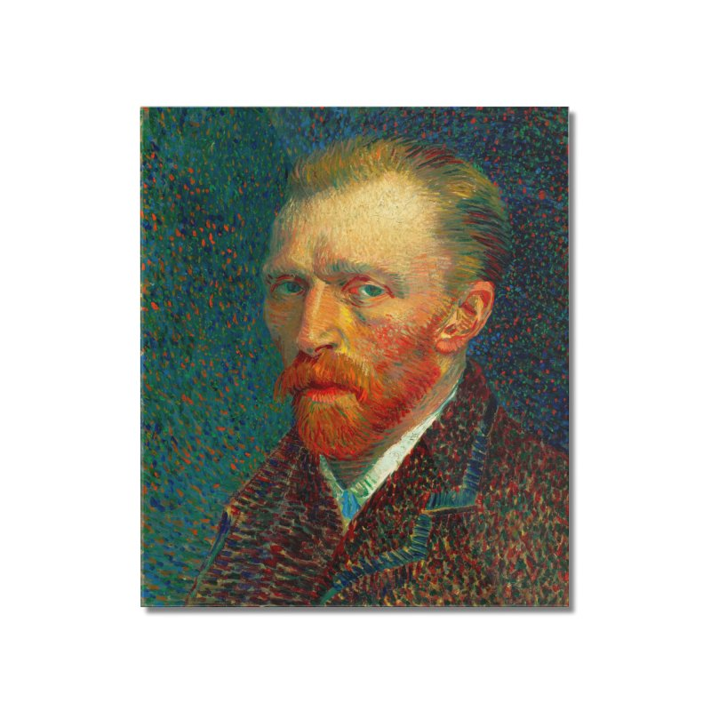VINCENT VAN GOGH-SELF PORTRAIT Home Mounted Acrylic Print by THE ORANGE ZEROMAX STREET COUTURE