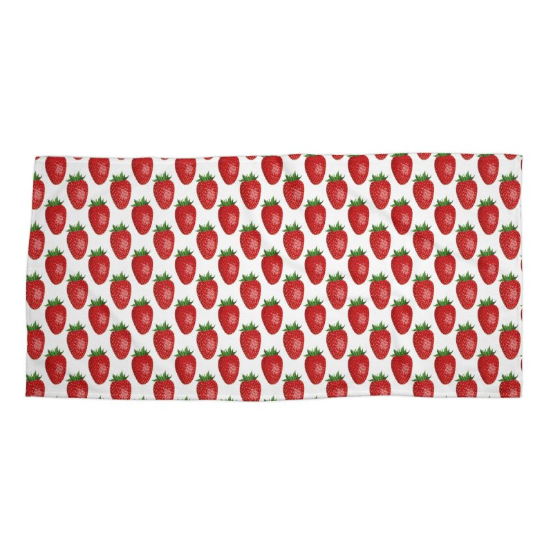 STRAWBERRIES Accessories Beach Towel by THE ORANGE ZEROMAX STREET COUTURE