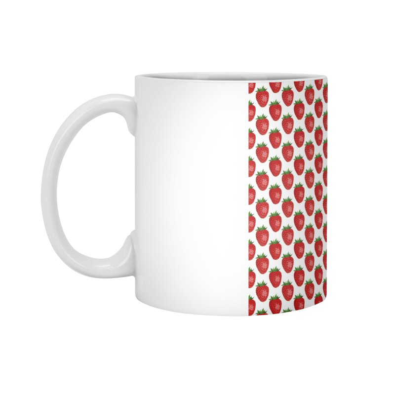 STRAWBERRIES Accessories Mug by THE ORANGE ZEROMAX STREET COUTURE