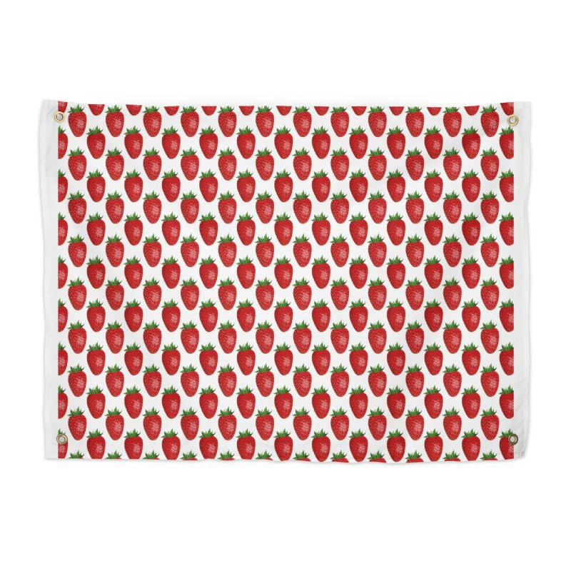 STRAWBERRIES Home Tapestry by THE ORANGE ZEROMAX STREET COUTURE