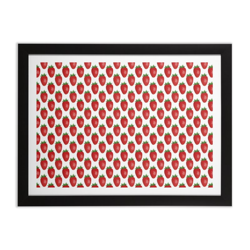 STRAWBERRIES Home Framed Fine Art Print by THE ORANGE ZEROMAX STREET COUTURE