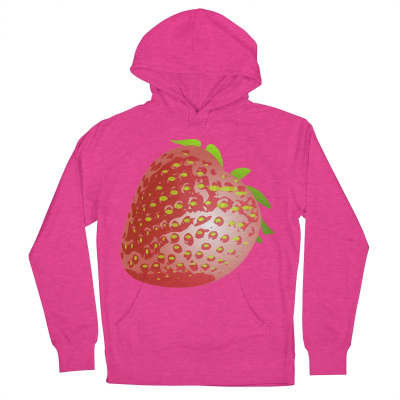STRAWBERRY Women's French Terry Pullover Hoody by THE ORANGE ZEROMAX STREET COUTURE