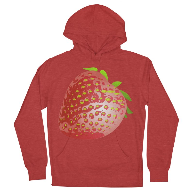 STRAWBERRY Men's French Terry Pullover Hoody by THE ORANGE ZEROMAX STREET COUTURE