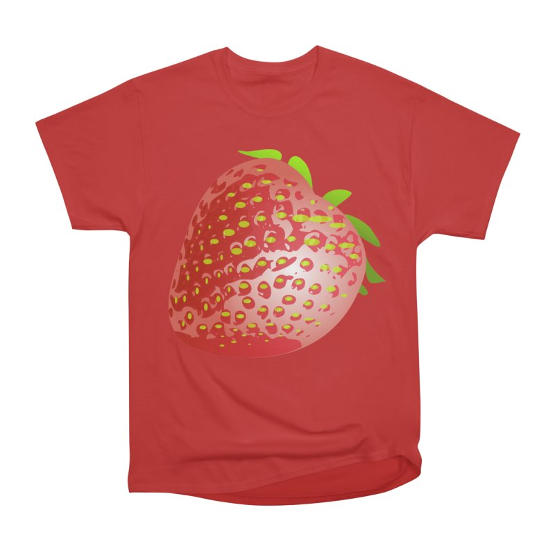 STRAWBERRY Men's Heavyweight T-Shirt by THE ORANGE ZEROMAX STREET COUTURE