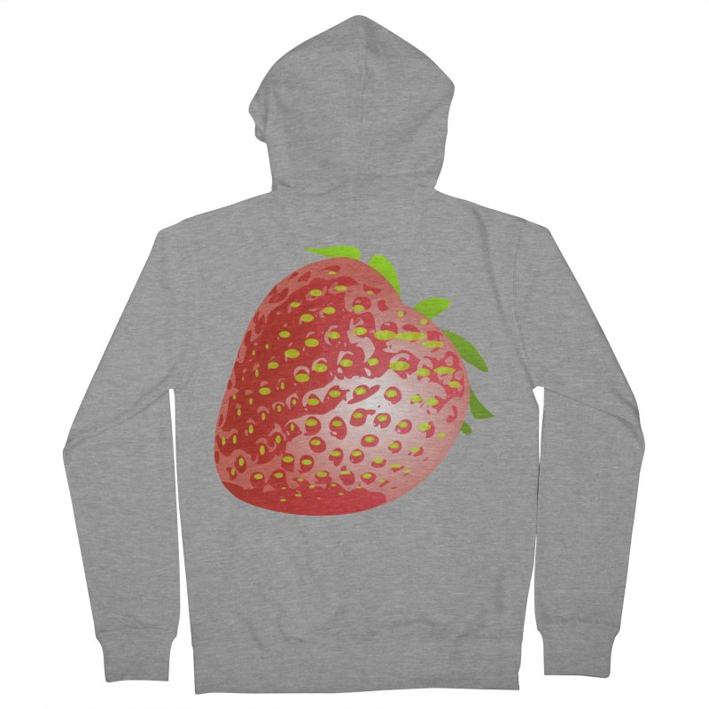 STRAWBERRY Women's French Terry Zip-Up Hoody by THE ORANGE ZEROMAX STREET COUTURE