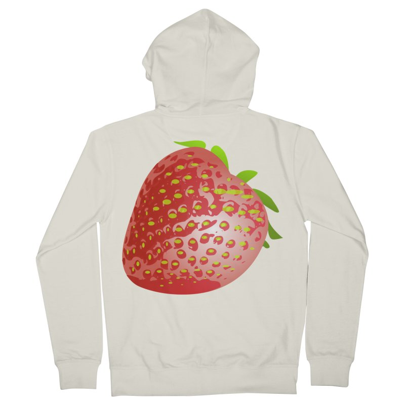 STRAWBERRY Men's French Terry Zip-Up Hoody by THE ORANGE ZEROMAX STREET COUTURE