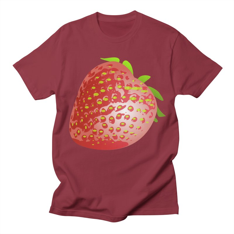 STRAWBERRY Women's Regular Unisex T-Shirt by THE ORANGE ZEROMAX STREET COUTURE