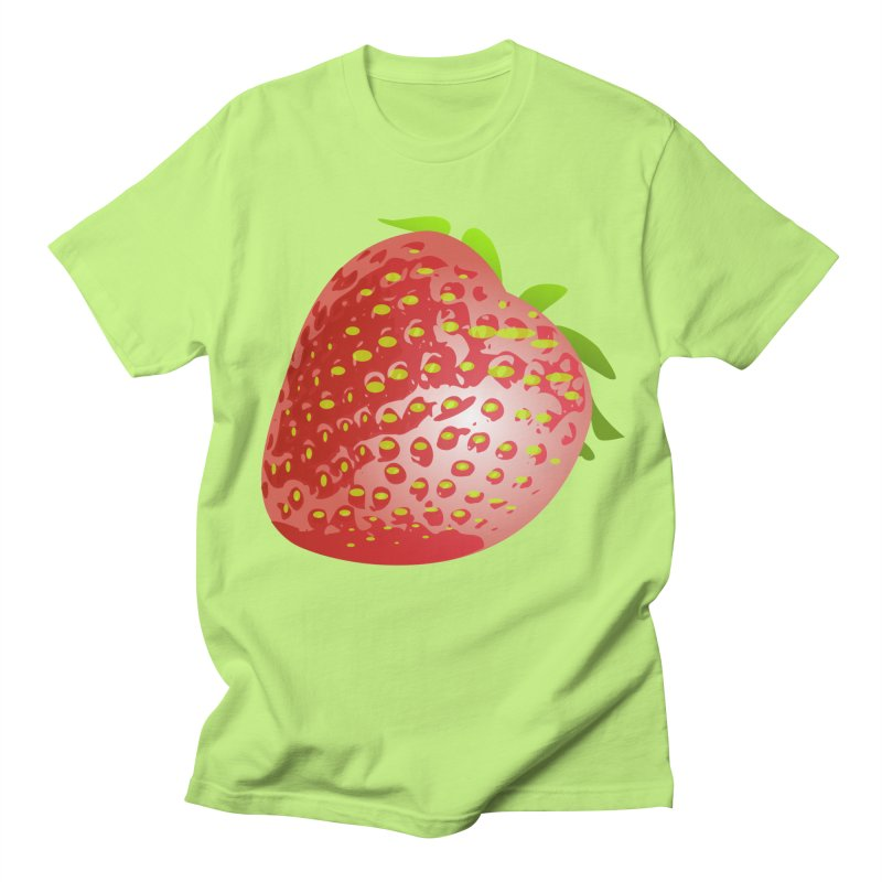 STRAWBERRY Men's Regular T-Shirt by THE ORANGE ZEROMAX STREET COUTURE
