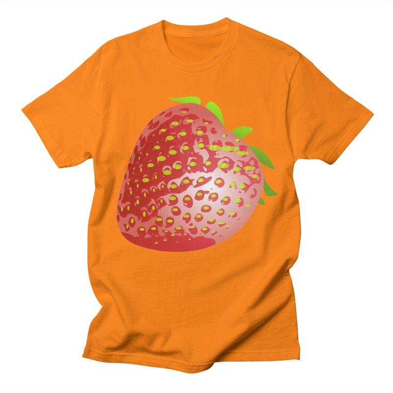 STRAWBERRY Women's Regular Unisex T-Shirt by THE ORANGE ZEROMAX STREET COUTURE