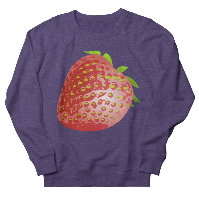 STRAWBERRY Men's French Terry Sweatshirt by THE ORANGE ZEROMAX STREET COUTURE
