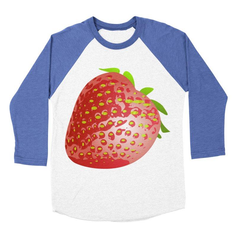 STRAWBERRY Women's Baseball Triblend Longsleeve T-Shirt by THE ORANGE ZEROMAX STREET COUTURE
