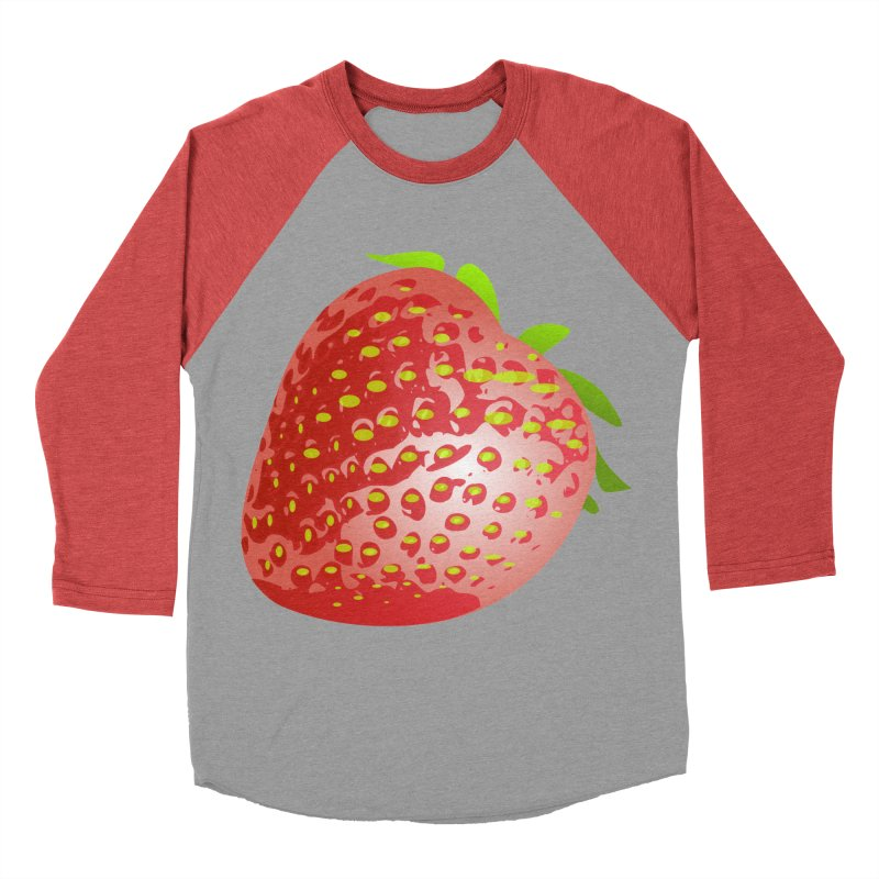 STRAWBERRY Women's Baseball Triblend Longsleeve T-Shirt by THE ORANGE ZEROMAX STREET COUTURE