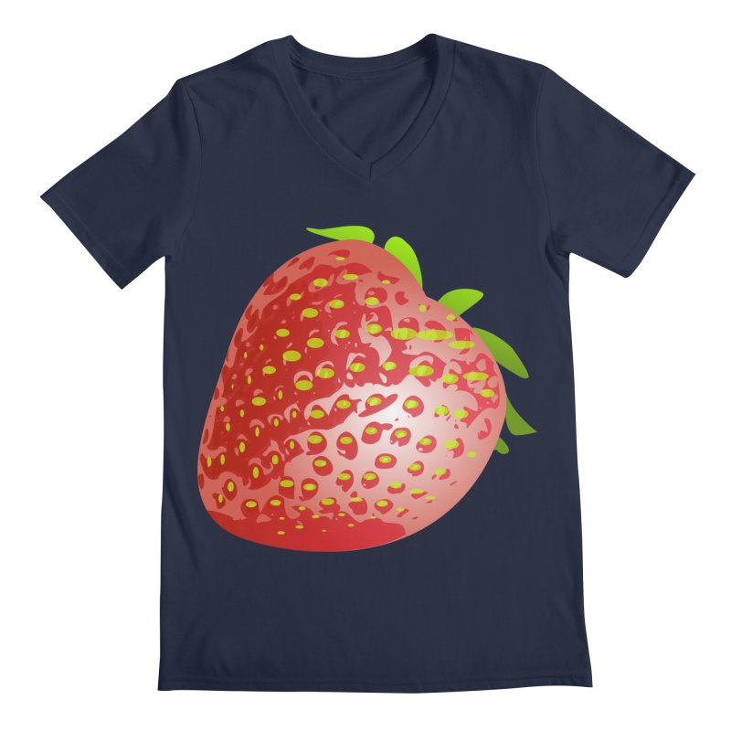 STRAWBERRY Men's Regular V-Neck by THE ORANGE ZEROMAX STREET COUTURE