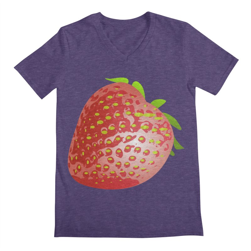 STRAWBERRY Men's V-Neck by THE ORANGE ZEROMAX STREET COUTURE