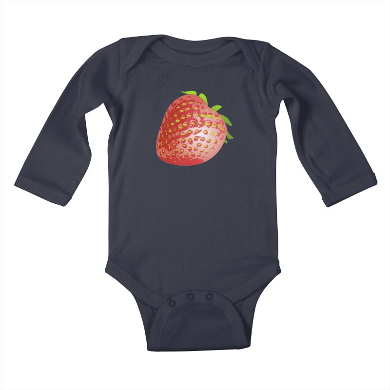 STRAWBERRY Kids Baby Longsleeve Bodysuit by THE ORANGE ZEROMAX STREET COUTURE