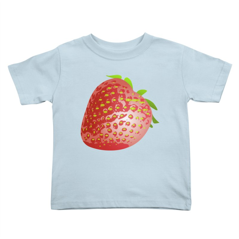 STRAWBERRY Kids Toddler T-Shirt by THE ORANGE ZEROMAX STREET COUTURE