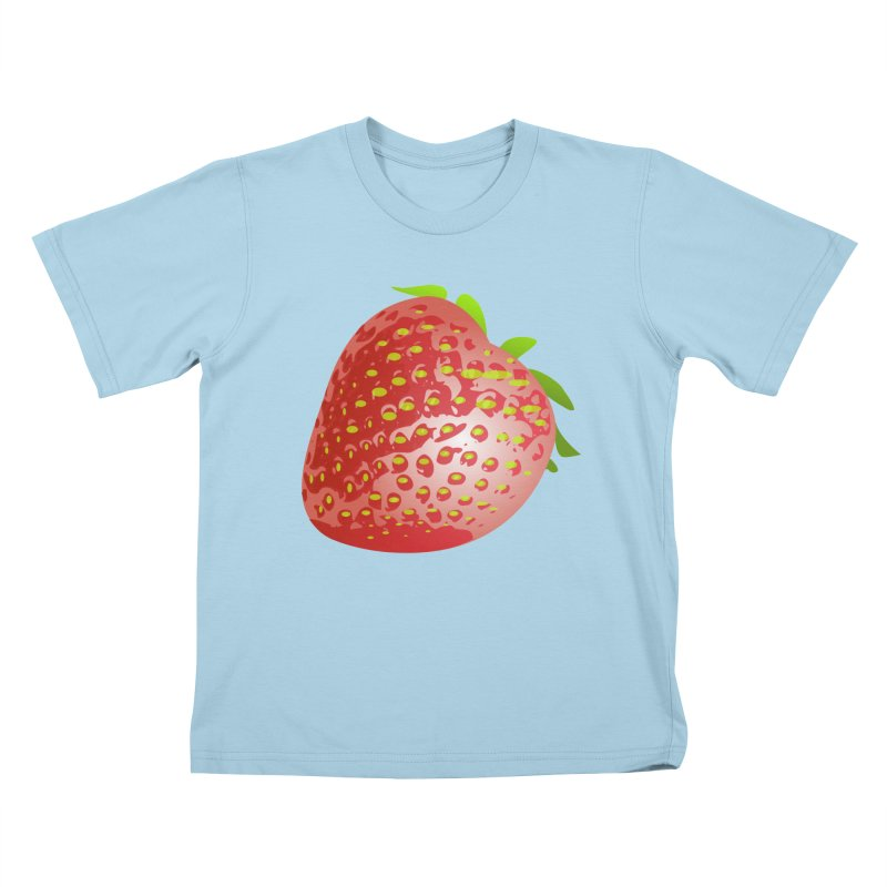 STRAWBERRY Kids T-Shirt by THE ORANGE ZEROMAX STREET COUTURE