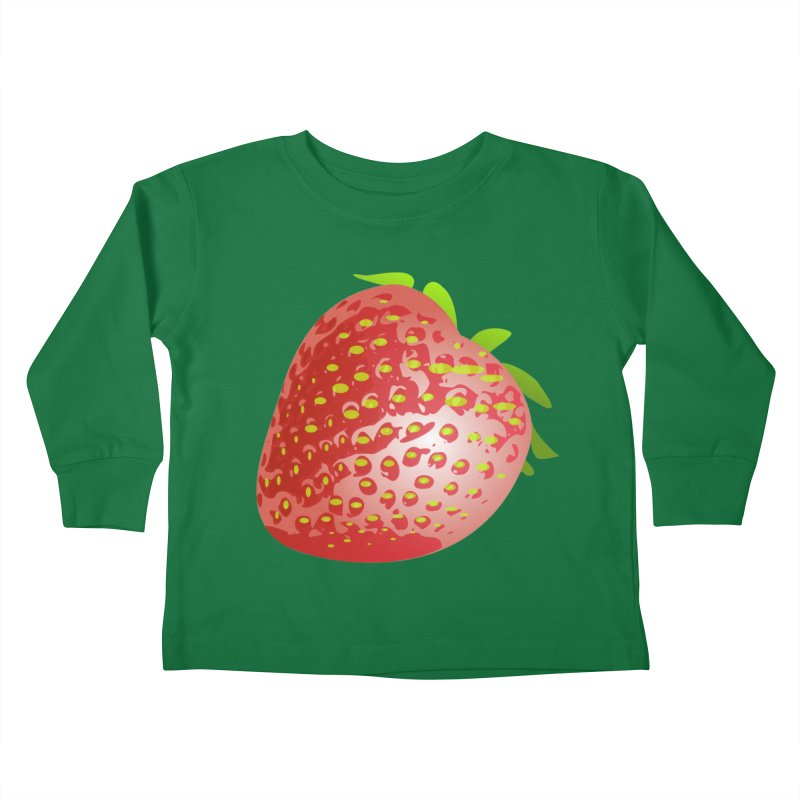 STRAWBERRY Kids Toddler Longsleeve T-Shirt by THE ORANGE ZEROMAX STREET COUTURE